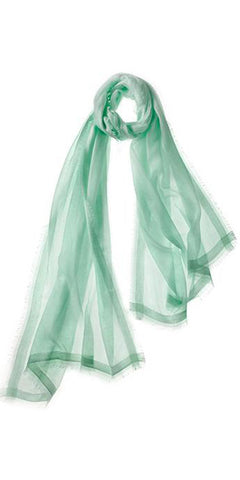 Finezza Featherweight Cashmere Scarf in Honeydew