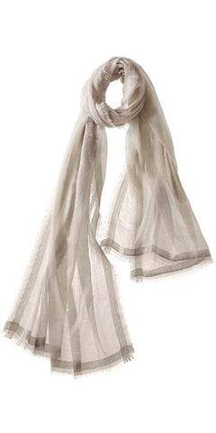 Finezza Featherweight Cashmere Scarf in Khaki