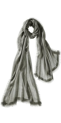 Finezza Featherweight Cashmere Scarf in Pewter