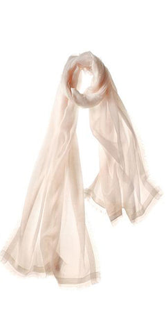 Finezza Featherweight Cashmere Scarf in Shell