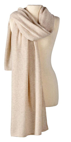 Cashmere Lightweight Travel Wrap in Flax