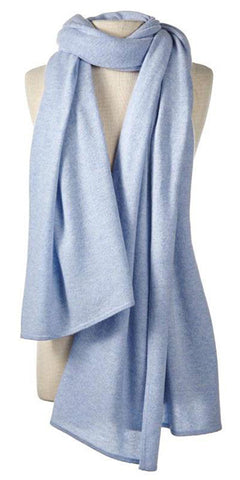 Cashmere Over-Sized Comfort Wrap in Frost