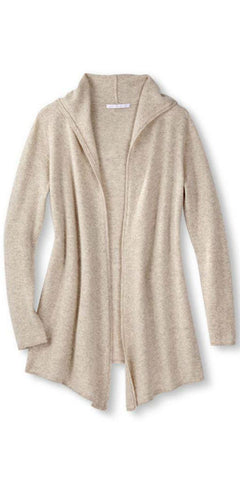 Cashmere Casual Hoodie in Sand