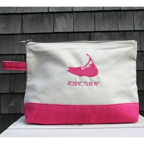 Island Make Up Bag in Hot Pink
