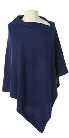 Cashmere Cape in Indigo
