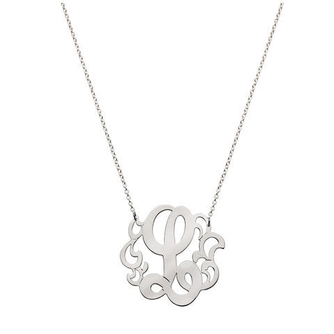Open Scroll Initial Monogram Necklace by Jane Basch