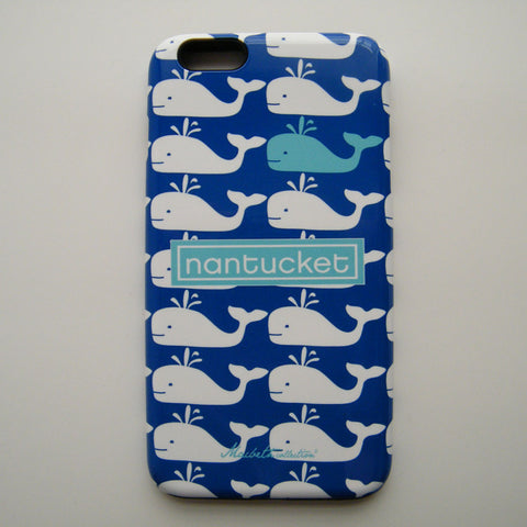 iPhone 6 Plus Case - Nantucket Whale Aqua