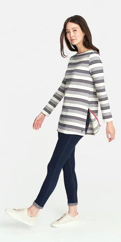 Jemma Top in Navy Stripe by Joules