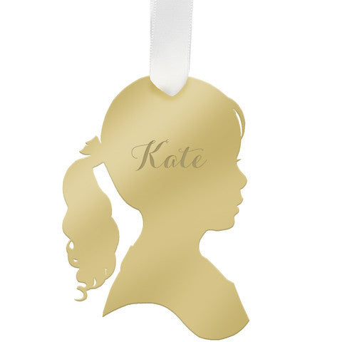 "Personalized Girl Child Ornament- ""Kate"""