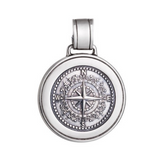 Large Colby Davis Compass in Oxidized Silver