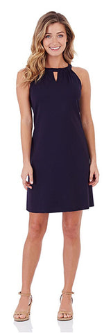 Lisa Ponte Dress in Dark Navy