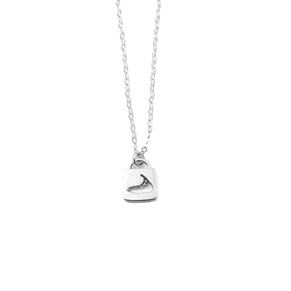 Lock Charm Necklace in Silver by Skar Jewelry