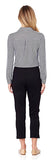 Lucia Ponte Slim Cropped Pant in Black