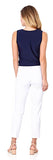 Lucia Ponte Slim Cropped Pant in White