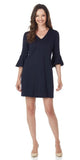 Lyla Ponte Dress in Dark Navy