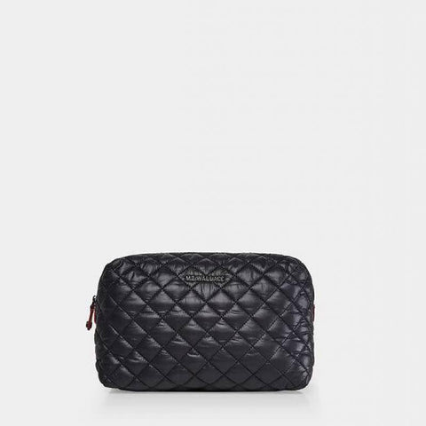 MZ Wallace Mica Cosmetic Bag in Black