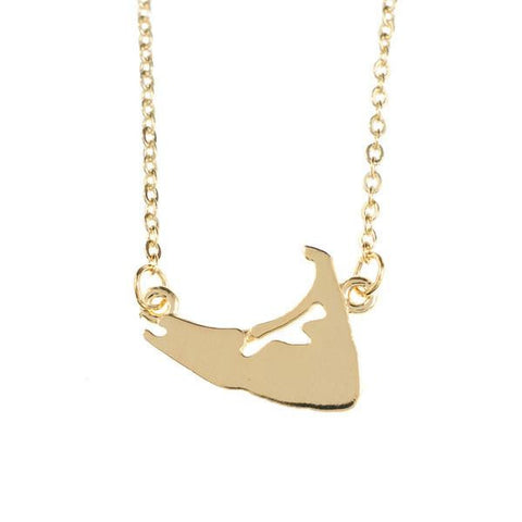 Solid Nantucket Necklace in Gold