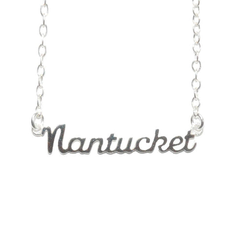 Nantucket Script Necklace