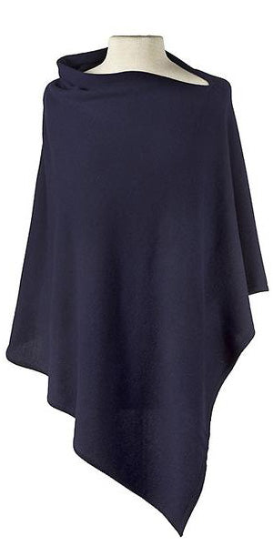 Cashmere Cape in Navy