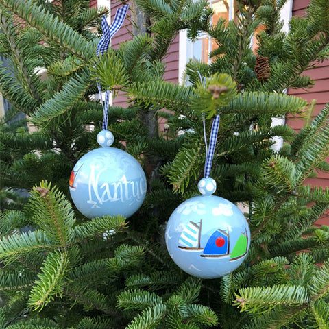 Rainbow Fleet Nantucket Island Ornament