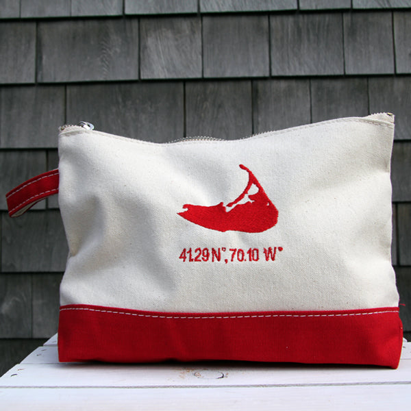 Island Make Up Bag in Red