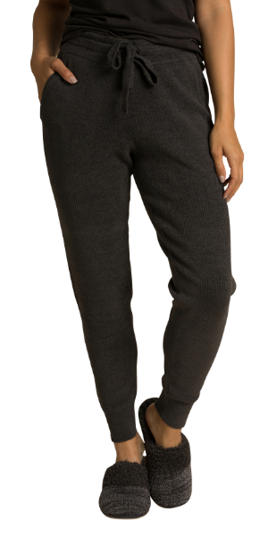 Ribbed Jogger in Carbon