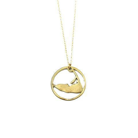Medium Ring Around Nantucket Necklace in Gold