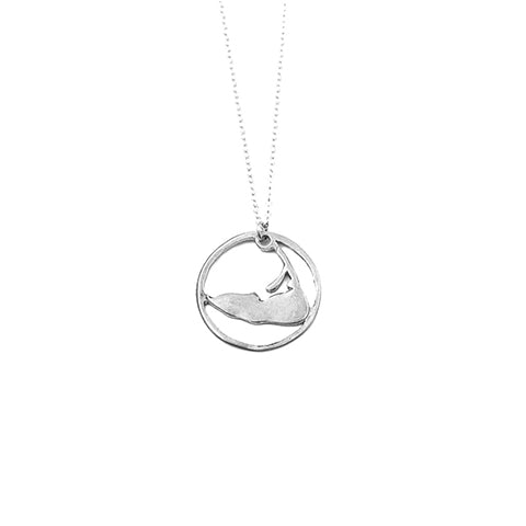 Medium Ring Around Nantucket Necklace in Sterling Silver