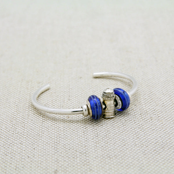 Cuff Bracelet with Sankaty Lighthouse Charm Bead