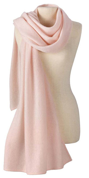 Cashmere Lightweight Travel Wrap in Seashell
