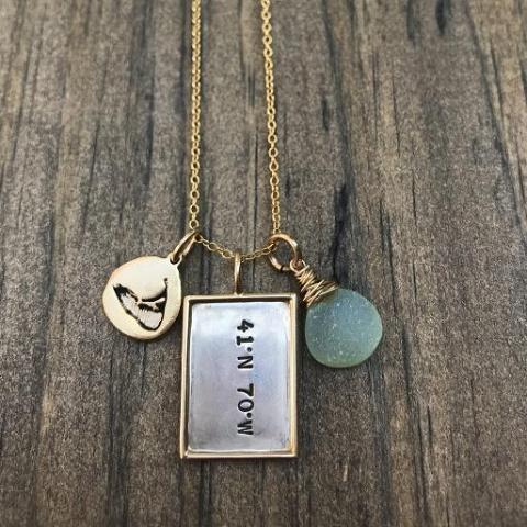 Longitude/Latitude Island Necklace