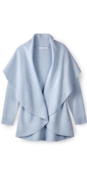 2-Way Cardigan Sweater in Sky Blue