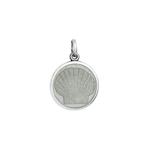 Small Colby Davis Scallop Charm in White