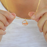 Medium Ring Around Nantucket Necklace in Gold by Skar Jewerly