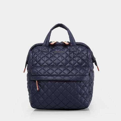 Small Top Handle Backpack in Navy Dawn