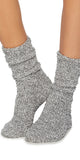 Barefoot Dreams Heathered Socks in Graphite