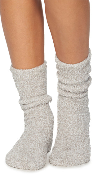 Barefoot Dreams Heathered Socks in Oyster