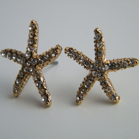 Gold Spiny Starfish Earrings