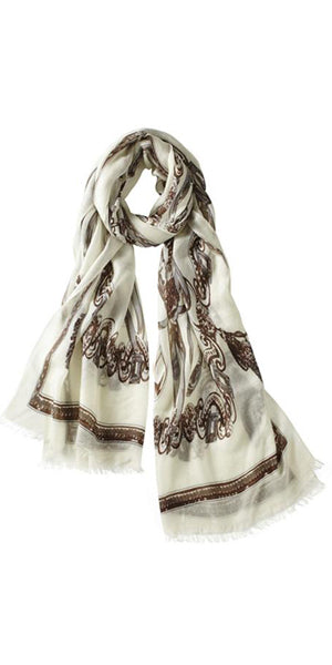 Staffa Featherweight Cashmere Scarf in Bone