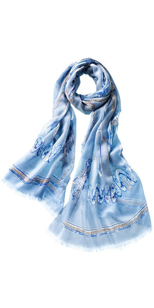 Staffa Featherweight Cashmere Scarf in Sky