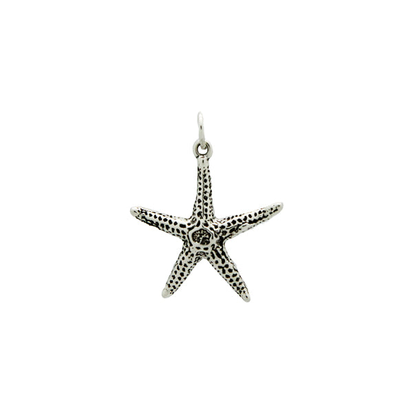 Starfish Bracelet Charm in Sterling Silver
