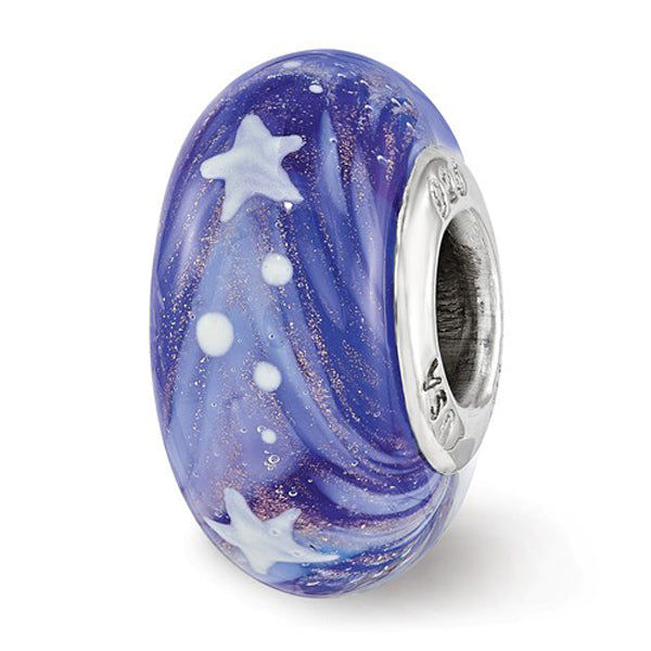 Nantucket Starry Night Glass Bead