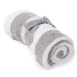 Barefoot Dreams Striped Personal Throw in White/Stone