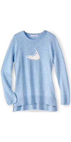 Nantucket Island Cashmere Sweater in Sky Blue