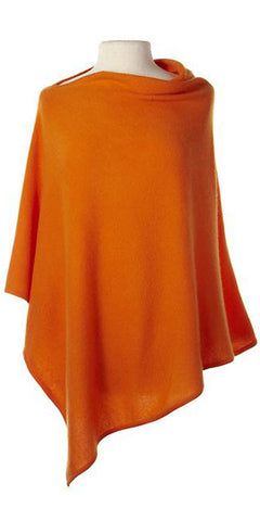 Cashmere Cape in Tangerine