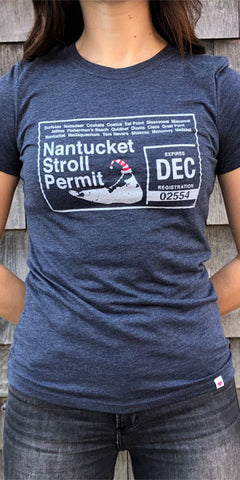 Nantucket Stroll Permit Ladies T-Shirt