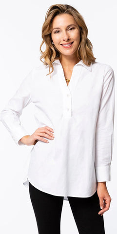 Teri Tunic Top in White