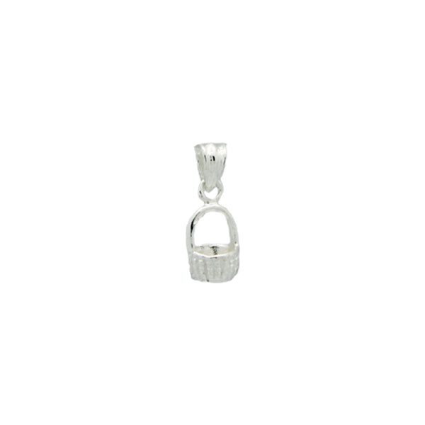 Nantucket Tiny Basket Charm in Sterling Silver