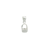 Nantucket Tiny Basket Bracelet Charm in Sterling Silver