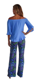 Trixie Pants in Wild Paisley Navy Periwinkle